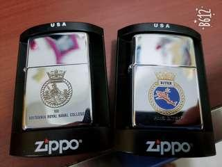2 Unused 100% Real Zippo British Royal Navy Special Editions
