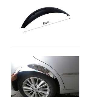 4pcs 23''x 85mm wide size Eyebrow Arch Trim Lips Fender Flares Protector Chrome / carbon Look * out of stock