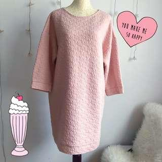 MONKI Pink Sweater Dress