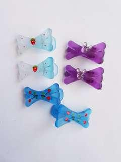 🆕️3 pairs cute hair Clips
