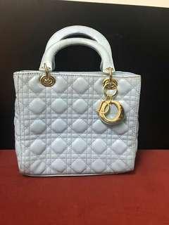 Original Lady Dior White Handbag
