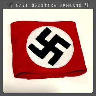 World War Two Nazi Swastika Armband Velcro Gestapo SS Hitler Third Reich