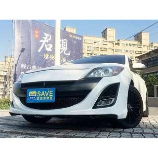 2011年 MAZDA 3 2.0  全車大包 天窗 ABS SRS 方向盤快撥 多功能影音 帥氣鋁圈