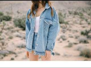 Korean Oversize Light Denim Jacket!