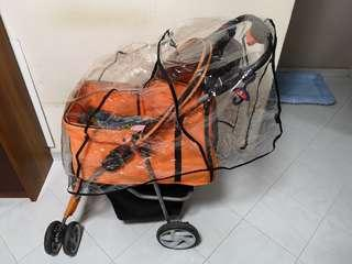 Pet stroller raincoat