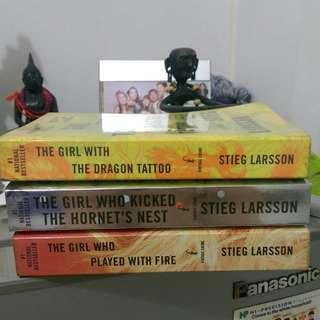 Millenium series books 1-3 (The girl with the dragon tattoo)