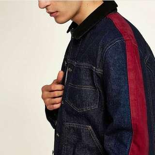 Velvet Stripes Denim Jacket