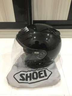 Helmet shoei jforce 2 black hitam