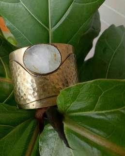 Fair trade moonstone arm cuff