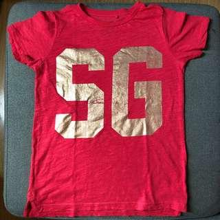 Cotton on red shirt Size 6