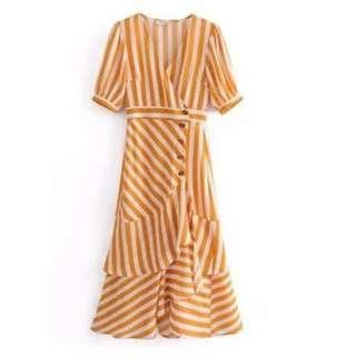 Retro stripe dress