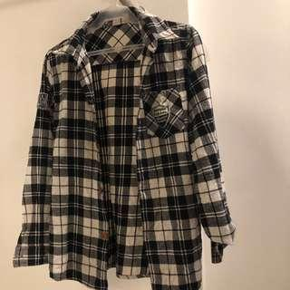 Ladies Checkered Polo Long sleeves