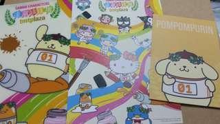 屯門市中心限定 pom pom purin 布甸狗 postcard file