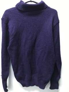 Violet turtleneck