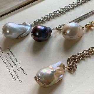 Baroque Pearl Customization Necklace Pendant