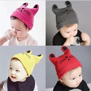 ❤️Cute Cat Bonnet for Baby and Kids
