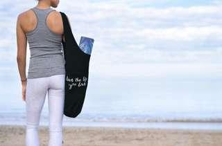 Yoga Mat Tote Bag, Three Colours  Black, Khaki and Fucsia