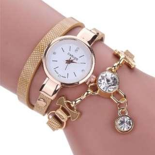 Brown Bracelet Accessory Watch (no battery, not working)