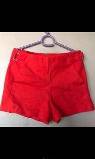 Bershka red shorts