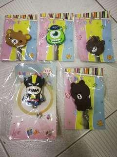 可愛卡通証件易拉扣&鎖匙套(全買包郵)