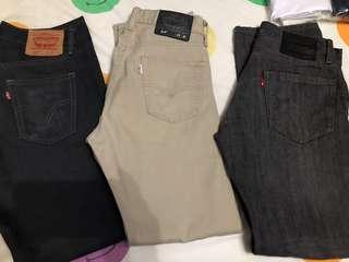 All Authentic Levis Pants for men