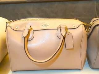 Very Good Condition!! COACH MINI BENNET Beige and Grey Color,