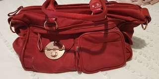 New Mimco Red Baby Bag