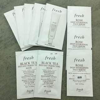 (包郵)全新fresh sample 10 pack