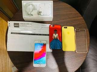Iphone 6s Gold - 128 gb with brandnew apple headset