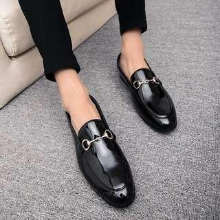 Men's Korean Style Slip On Loafers Casual Shoes 👞