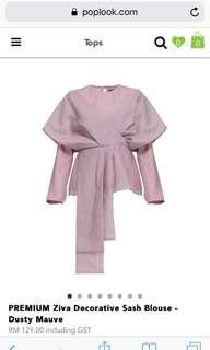Poplook Premium Ziva blouse in Dusty Mauve size L #PayDay30