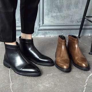 Men's British Style Real Leather Chelsea High Cut Boots