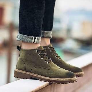 Men's British Style Lace Up Winter ❄️ Boots