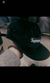 Supreme 秋冬新款羢布黑帽