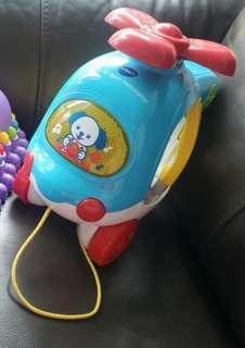 二手 Vtech 入形狀發聲直昇機玩具