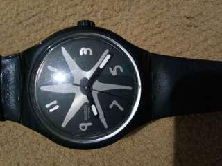 Swatch original tali kulit
