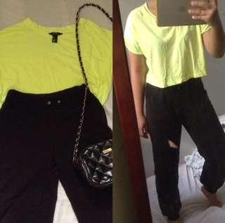 170 pesos for 2!! Forever 21 croptop and jogger pants