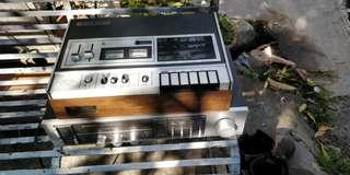 National Panasonic Casette Deck and Pioneer Amplifier
