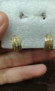 Earrings and Ring Set Gold Authentic 4.8g super sale