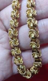 Gold chain necklace 21k repriced super sale
