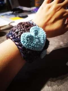 Handmade Crochet Bracelet with Heart