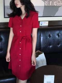 Free delivery- Red dress