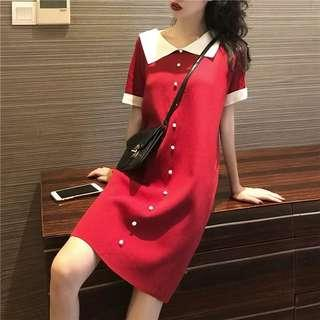 Free delivery- Red short dress