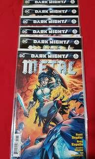 Dark Nights Metal #1-6 Jim Lee Variant Set