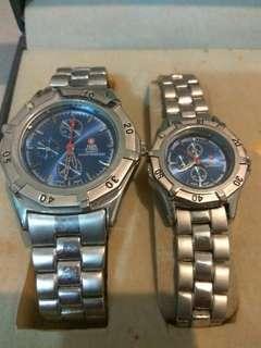 Nsa steel swiss army quartz watch