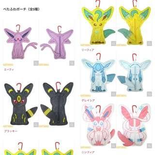 Pokemon All Stars Collection Vol.10 Espeon / Umbreon / Sylveon / Glaceon / Leafeon peta fuwa pouch (Pre-Order)
