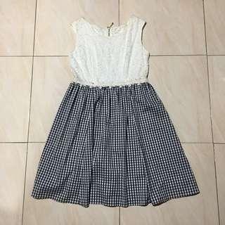 LACE COMBO DRESS