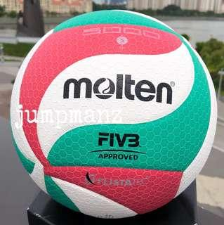 Molten V5M 5000-SEAG Volleyball (Free Delivery & Brand New)