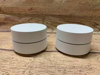 Google WiFi AC1200 Mesh Wireless Router Dual Band, 2-Pack  1200Mbps, 2.4/5GHz, a/b/g/n/ac