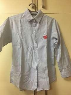 Light Blue Stripes Long sleeves Polo Shirt